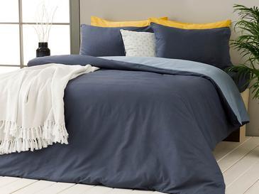 Plain Pamuk Çift Kişilik Nevresim Takımı 200x220 Cm Mavi - Lacivert