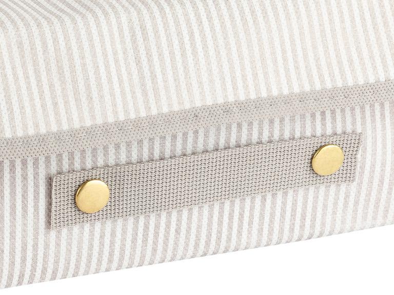 Thin Stripe Polipropilen Saklama Kutusu 30x23x11 Cm Gri