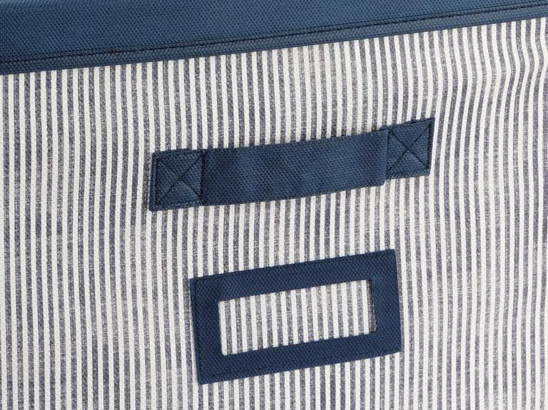 Royal Stripe Polipropilen Saklama Kutusu 30x30x30 Cm Lacivert