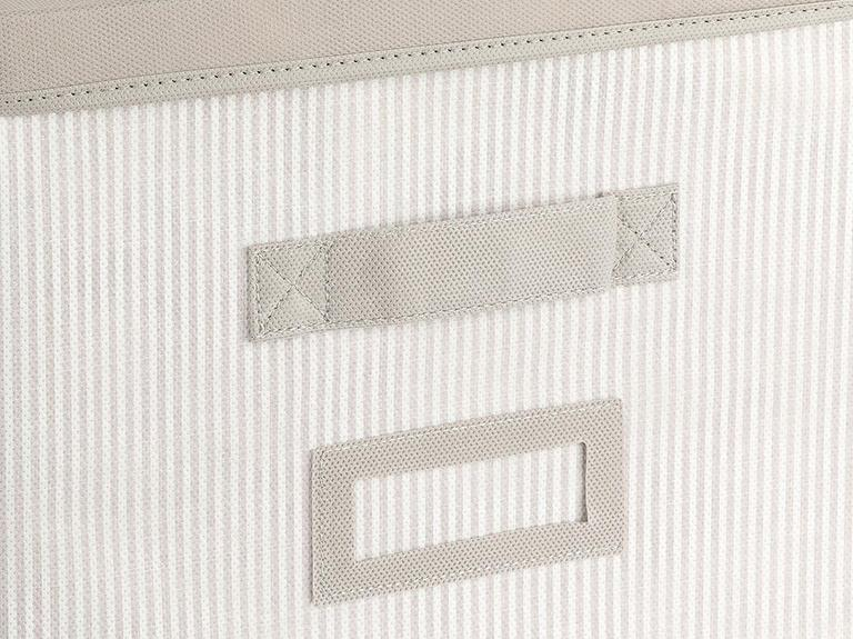Royal Stripe Polipropilen Saklama Kutusu 30x30x30 Cm Gri