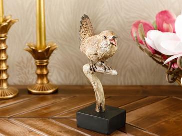 Lonely Bird Polyresin Dekoratif Obje 10x7,5x21,4 Cm Kahve