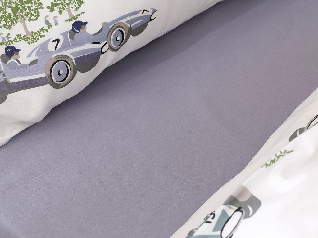 Old Cars Pamuklu Çocuk Nevresim Takımı 160x220 Cm Mavi