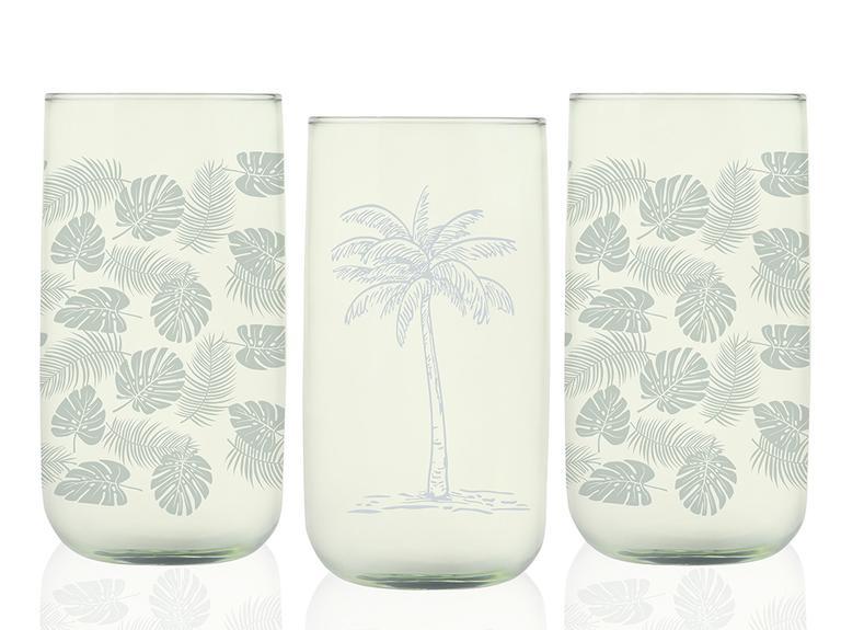 Palm Cam 3'lü Meşrubat Bardağı 270 Ml Yeşil