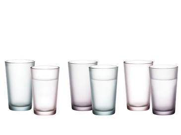 Mat Cam 6'lı Kahve Yanı Su Bardağı 100 Ml Renkli