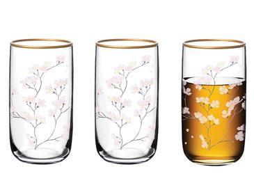 Marta Cam 3'lü Meşrubat Bardağı 365 Ml Renkli