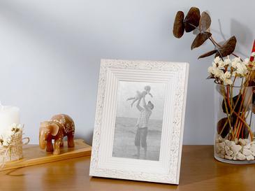 Rustic Çerçeve 10x15 Cm Eskitme Beyaz