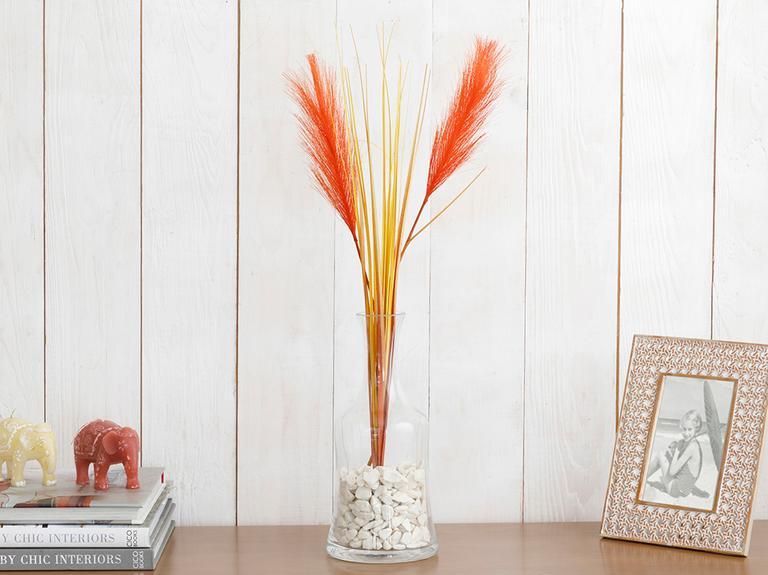Grass Yapay Çiçek 75 Cm Turuncu