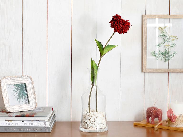 Gerbera Flower Yapay Çiçek 66 Cm Bordo