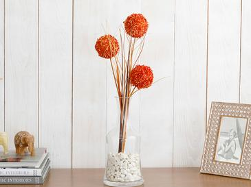 Grass Bush Yapay Çiçek 67 Cm Turuncu
