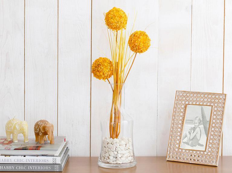 Grass Bush Yapay Çiçek 67 Cm Sarı
