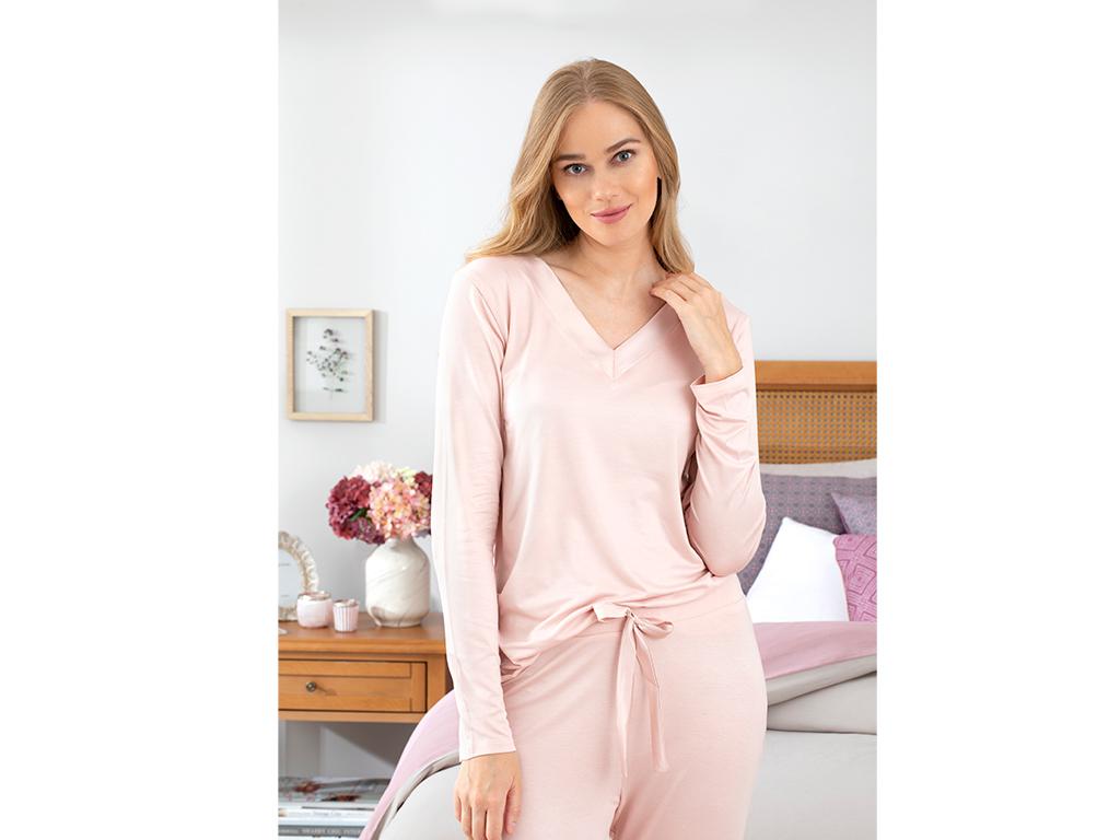 Pure Viskon Bayan Pijama Takımı L-xl Pudra