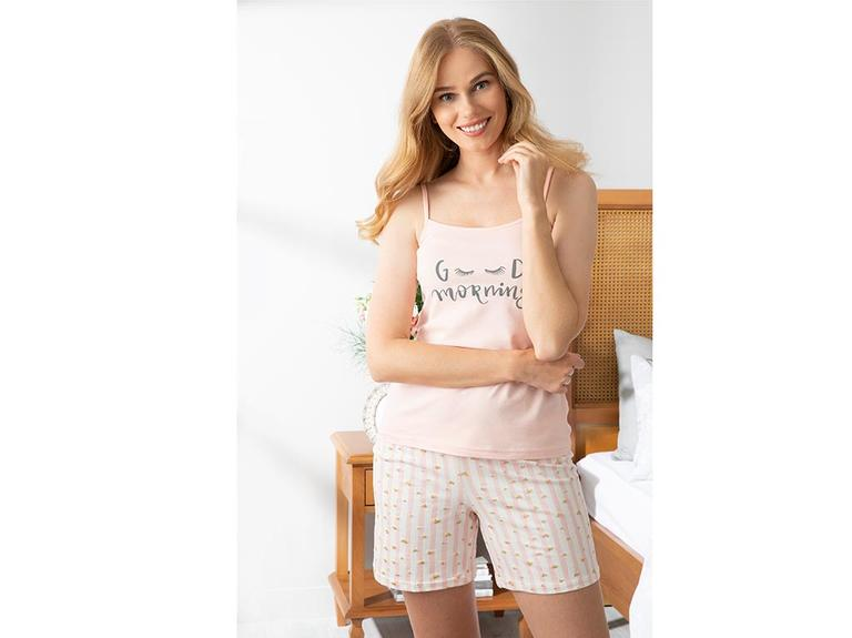 Pure Love Full Lyc Süprem- Pamuk Elastan Şort Pijama Takımı L-xl Pembe