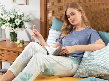 Zen Viskon Bayan Pijama Takımı S Gri