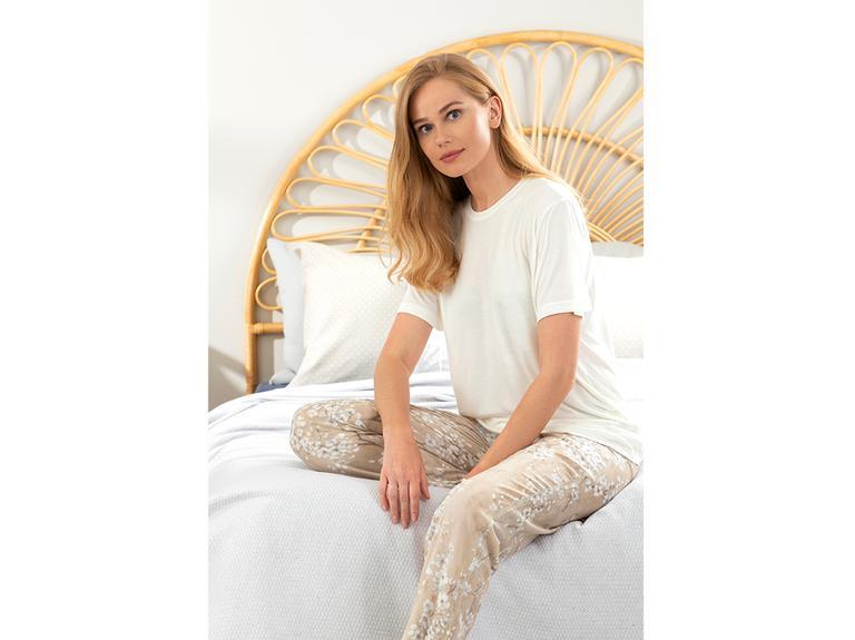 New Diamond Viskon Bayan Pijama Takımı S Bej