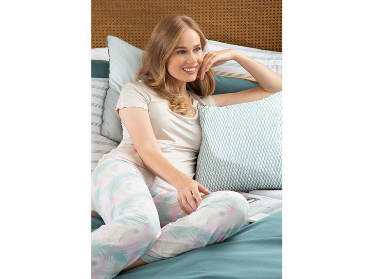 Feather Viskon Bayan Pijama Takımı S Pembe