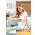 Bloom Viskon Bayan Pijama Takımı M Seledon