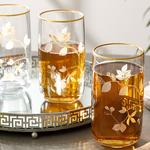 Bahar Dalı Cam 3'Lü Meşrubat Bardağı 365 Ml Şeffaf