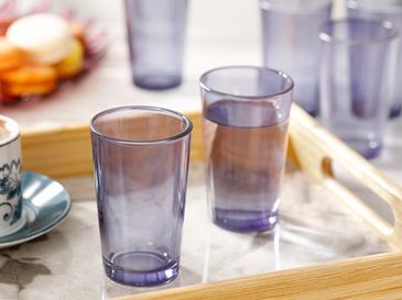 Avin Cam 6'lı Kahve Yanı Su Bardağı 100 Ml Mavi