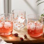 Pinky Rose Cam 3'lü Meşrubat Bardağı 270 Ml Şeffaf