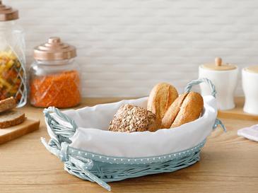Urban Hasır Dikdörtgen Ekmek Sepeti 28x18x9 Cm Mavi