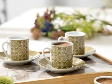 Bradley Porselen 12 Parça Kahve Fincan Takımı 80 Ml Yeşil