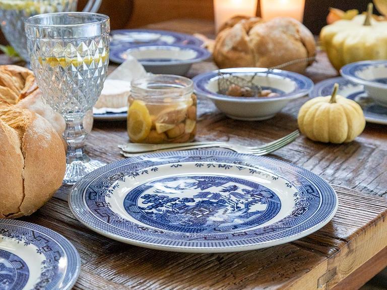 Royal Porselen 12 Parça Yemek Takımı 17 Cm - 20 Cm - 26 Cm Mavi