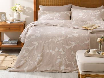 Chic Magnolia Pamuk Tek Kişilik Nevresim Takımı 160x220 Cm Bej