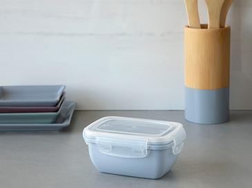Stella Plastik Dikdörtgen Saklama Kabı 400 Ml Mavi