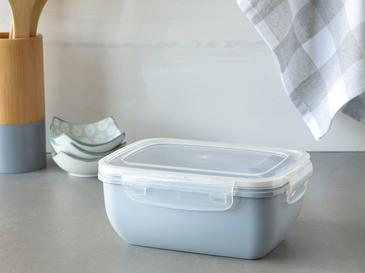 Stella Plastik Dikdörtgen Saklama Kabı 1400 Ml Mavi