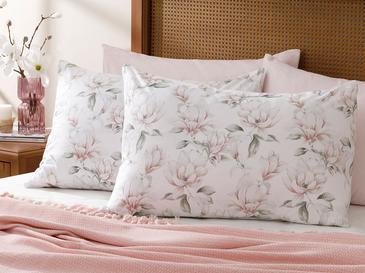 Magnolia Pamuklu 2'li Yastık Kılıfı 50x70 Cm Pembe