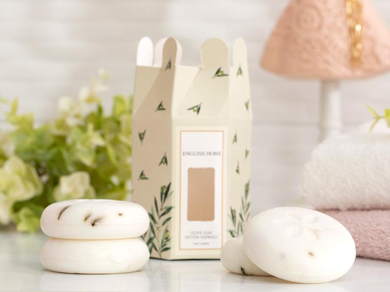 Zeytin Yaprağı Özlü Katı Sabun 4x45 Gr Beyaz