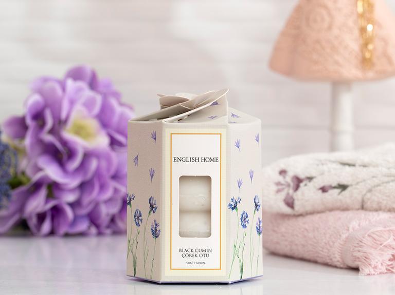 Çörek Otu Özlü Katı Sabun 4x45 Gr Beyaz