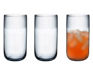 Bande Cam 3'lü Meşrubat Bardağı 365 Ml Gri