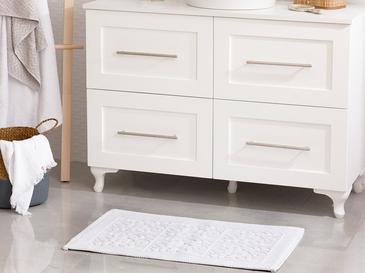 Bukle Pamuklu Kilim 50x80 Cm Beyaz