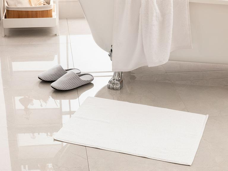 Vanity Pirinç Ayak Havlusu 50x70 Cm Beyaz