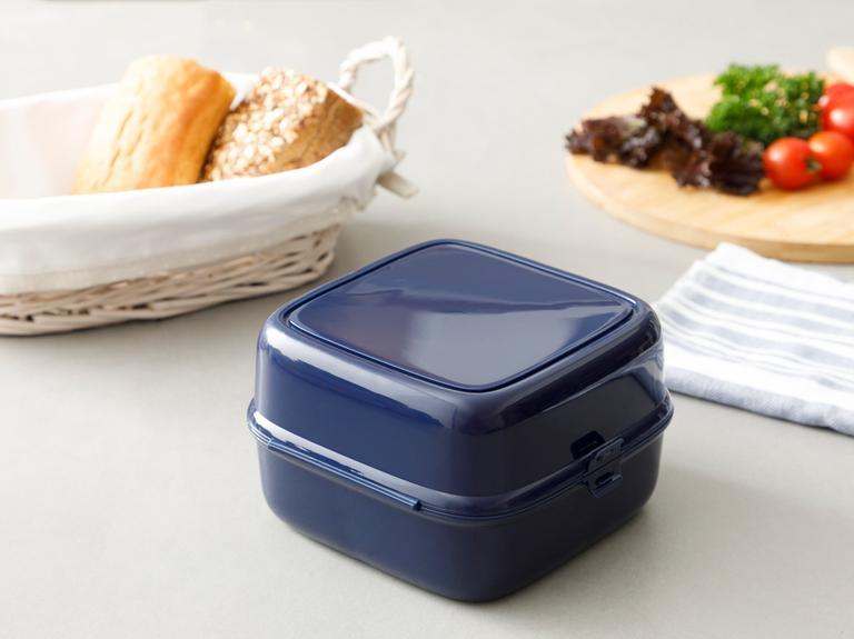 Rita Plastik 4 Bölmeli Lunch Box 13,0x13,0x9,5 Cm Lacivert
