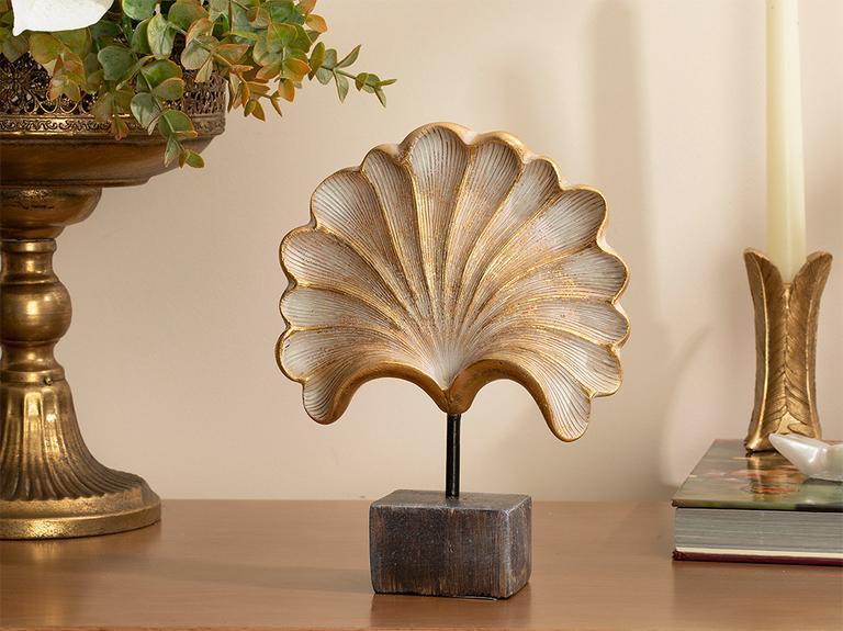 Glossy Polyresin Dekoratif Obje 16,2x5,3x20,5 Cm Gold