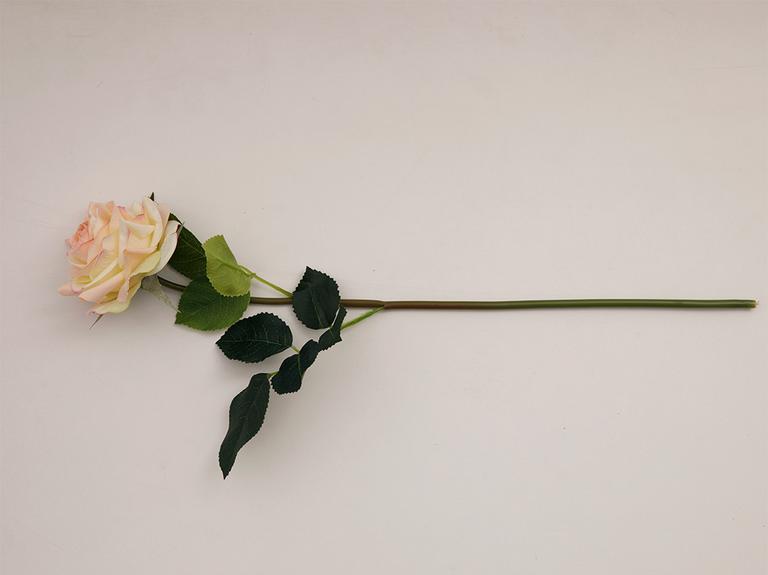 Canker Bloom Kumaş Tek Dal Yapay Çiçek 45 Cm Krem