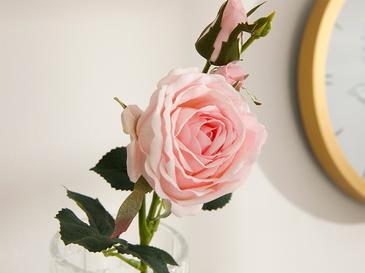 Reflowering Kumaş Tek Dal Yapay Çiçek 43 Cm Açık Pembe