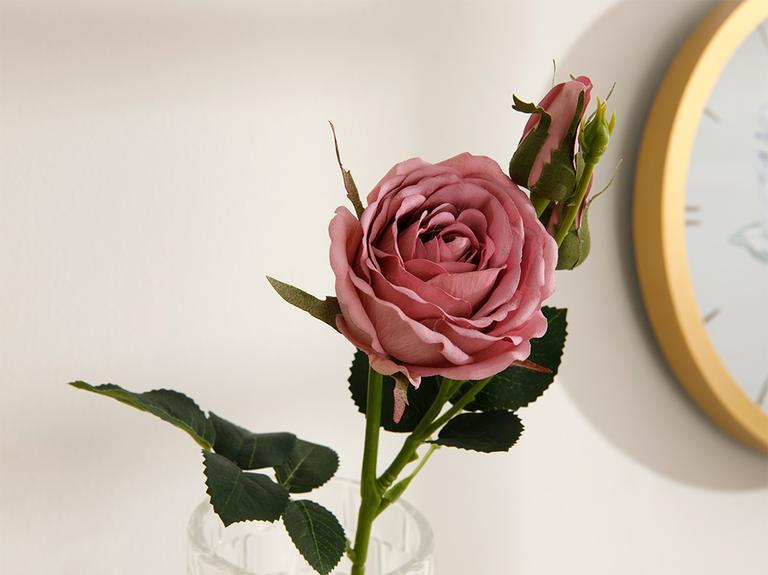 Reflowering Kumaş Tek Dal Yapay Çiçek 43 Cm Koyu Pembe