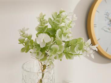 Honewort Kumaş Tek Dal Yapay Çiçek 36 Cm Beyaz - Yeşil