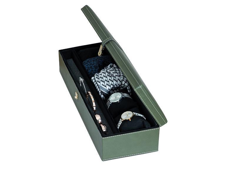 Adela Deri Takı Kutusu 40x14x9,5 Cm Yeşil