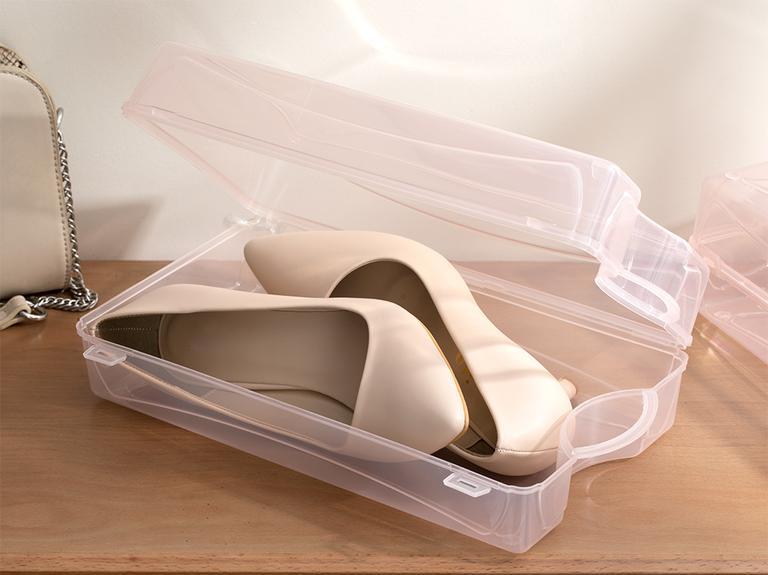 Loya Plastik Kadın Ayakkabı Saklama Kutusu 33x18x10cm Pudra
