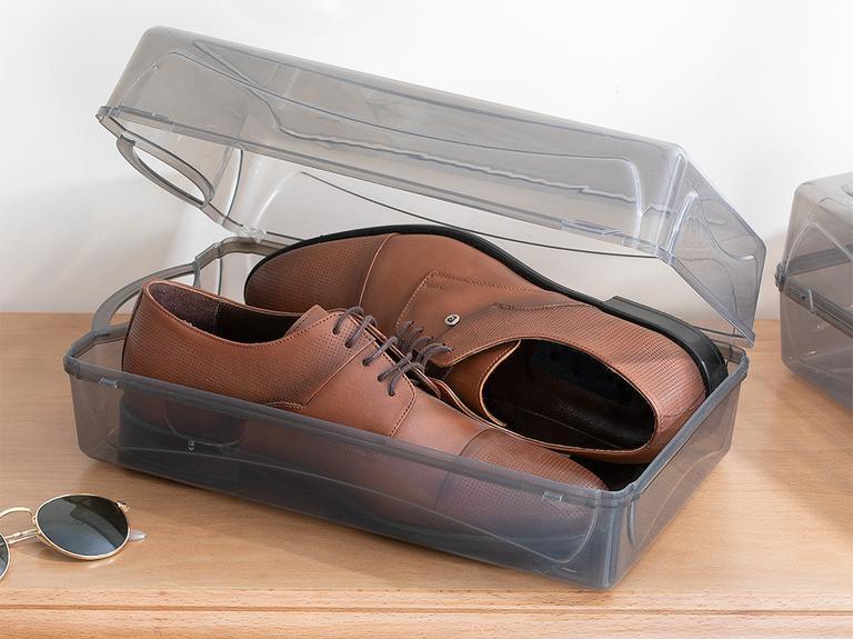 Loya Plastik Erkek Ayakkabı Saklama Kutusu 37x20x13cm Antrasit