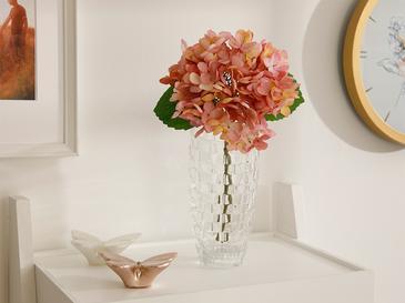 Hydrangea Kumaş Tek Dal Yapay Çiçek 33 Cm Koyu Pembe