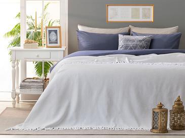 Pure Dokuma Çift Kişilik Yatak Örtüsü 240X260 Cm Beyaz