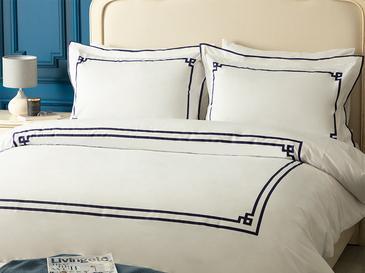 Athena Pamuklu King Size Nevresim Takımı 240x220 Cm Beyaz