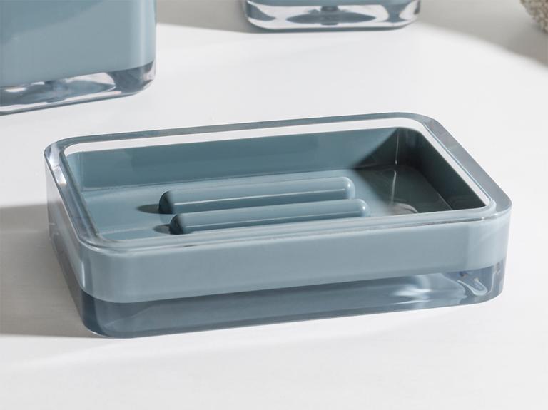 Elegance Kristal 3'lü Banyo Seti 17,5x6,5x6,5 Cm+9x6,5x6,5 Cm+1 Yeşil