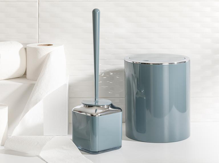 Elegance Kristal 2'li Banyo Takımı 19x21,5 Cm+10x10x37 Cm Yeşil