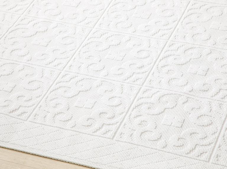 Bukle Pamuklu Kilim 120x180 Cm Beyaz